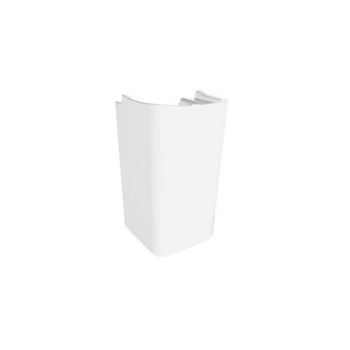 Roca Senso Square Basin With Semi Pedestal - 800mm - 1 Tap Hole - White